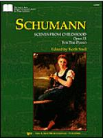 Schumann Scenes From Childhood, Opus 15 Sheet Music