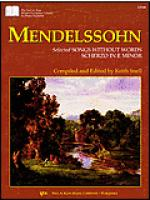 Mendelssohn Selected Songs Without Words Scherzo in E Minor Sheet Music