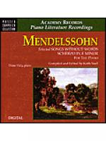 Mendelssohn Selected Songs Without Words & Scherzo (CD) Sheet Music