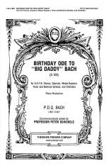 Birthday Ode to Big Daddy Bach (S.100) Sheet Music