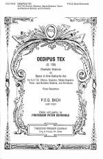 Oedipus Tex Dramatic Oratorio or Opera in One Cathartic Act Sheet Music