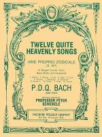 Twelve Quite Heavenly Songs Arie Proprio Zodicale Sheet Music