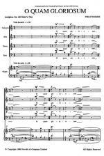 O Quam Gloriosum (SATB) Sheet Music