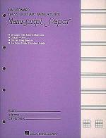 Bass Guitar Tablature Manuscript Paper Sheet Music