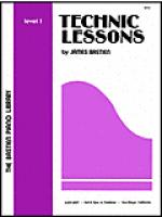 Technic Lessons, Level 1 Sheet Music