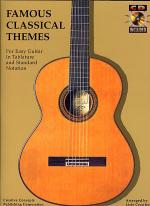 Famous Classical Themes For Easy Guitar - Book/CD Sheet Music