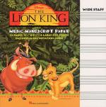 The Lion King Music Manuscript Paper Sheet Music