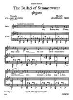 Armstrong Gibbs The Ballad Of Semmerwater Voice/Piano Sheet Music