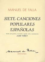7 Canciones Populares Espanolas (vers. J. Torrent) Sheet Music