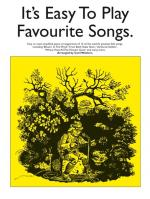 It's Easy To Play Favourite Songs Sheet Music
