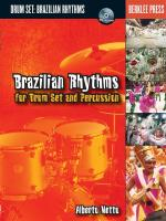 Brazilian Rhythms For Drum Set And Percussion Sheet Music