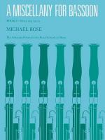 A Miscellany For Bassoon - Book I Sheet Music