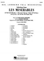 Les Miserables, Selections From Full Score Sheet Music