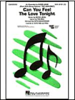 Can You Feel the Love Tonight Sheet Music