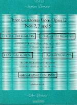 Three Canzonas Sheet Music