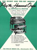Play the Hammond Organ - Part 3 Sheet Music