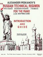 Russian Technical Regimen - Introduction and Guide Sheet Music