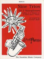 Nine Trios Saxophone Sheet Music