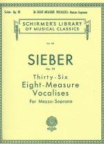 36 Eight-Measure Vocalises, Op. 93 - Mezzo-Soprano Sheet Music