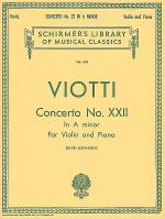 Violin Concerto No. 22 In A Minor - Violin/Piano Sheet Music