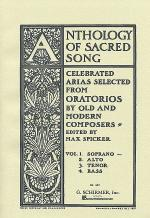 Anthology Of Sacred Song - Volume 1 - Soprano Sheet Music