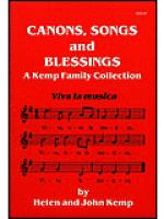 Canons, Songs and Blessings Sheet Music
