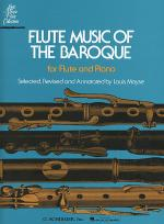 Flute Music of the Baroque Era Sheet Music
