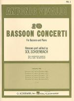 10 Bassoon Concerti, Vol. 1 Sheet Music