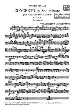 Concerto in G Minor for 2 Violoncellos Strings and Basso Continuo RV531 Sheet Music