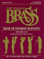 Canadian Brass Book Of Favorite Quintets - Conductor's Score Sheet Music