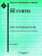 Non ti Scordar di Me [orchestration in A] Sheet Music