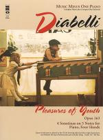 DIABELLI Pleasures of Youth (Four Sonatinas), op. 163 for piano duet Sheet Music