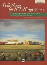 Folk Songs for Solo Singers - Vol. 1, Medium Low (Book) Sheet Music
