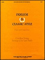 Prelude in Classic Style Sheet Music