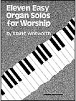 Eleven Easy Organ Solos for Worship Sheet Music