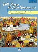 Folk Songs for Solo Singers - Vol. 2, Medium High (Book) Sheet Music