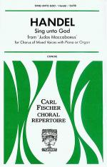 Sing Unto God from 'Judas Maccabaeus' Sheet Music