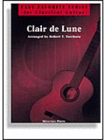 Clair de Lune for Easy Classical Guitar Sheet Music