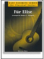 Fur Elise for Easy Classical Guitar Sheet Music