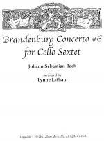 Brandenburg Concerto #6 for Cello Sextet Sheet Music
