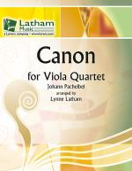 Canon for Viola Quartet Sheet Music