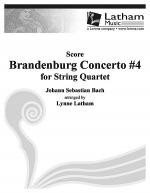 Brandenburg Concerto #4 for String Quartet - Score Sheet Music