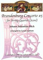 Brandenburg Concerto #5 for String Quartet Sheet Music