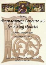 Brandenburg Concerto #6 for String Quartet Sheet Music