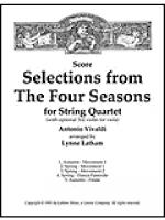 Selections from The Four Seasons for String Quartet - Score Sheet Music
