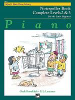 Alfred's Basic Piano Course - Notespeller Book Complete Levels 2 & 3 Sheet Music