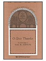 O Give Thanks Sheet Music