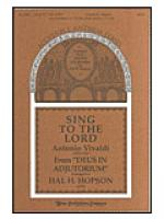 Sing to the Lord Sheet Music