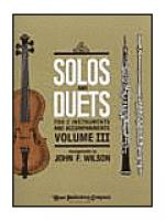 Solos and Duets - for C Instruments and Accompaniments (Volume III) Sheet Music