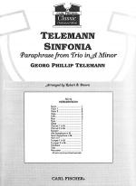 Telemann Sinfonia-Paraphrase from Trio in A Minor Sheet Music